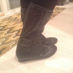 Beautiful Authentic Chanel Leather Boots!